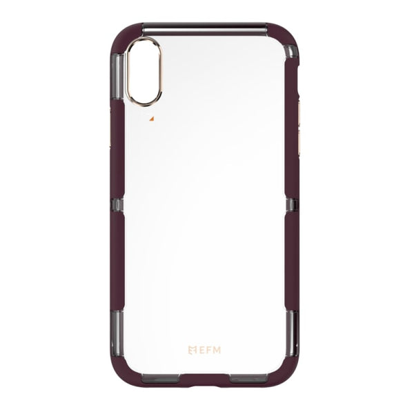 EFM Cayman D3O Case Armour For iPhone XR - Mulberry/Gold