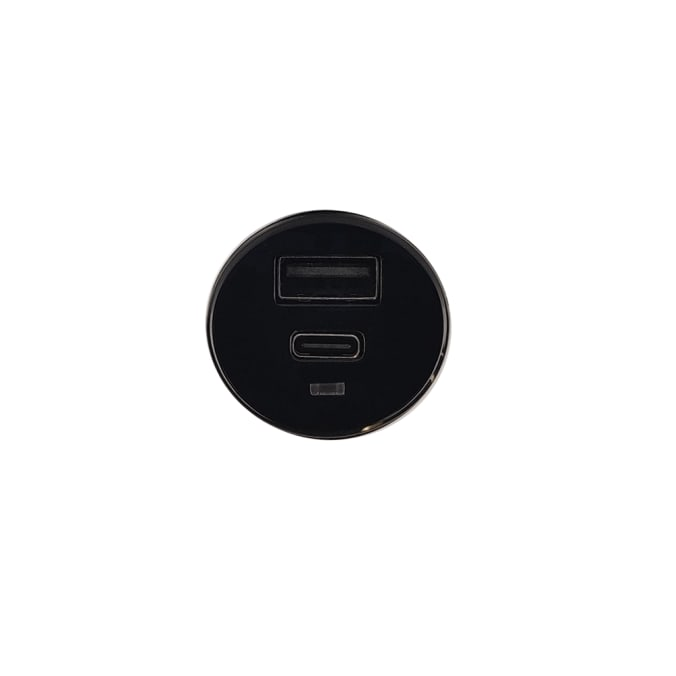 Cleanskin 27W Dual Car Charger and Qualcomm Quick Charge 3.0 USB Port Black