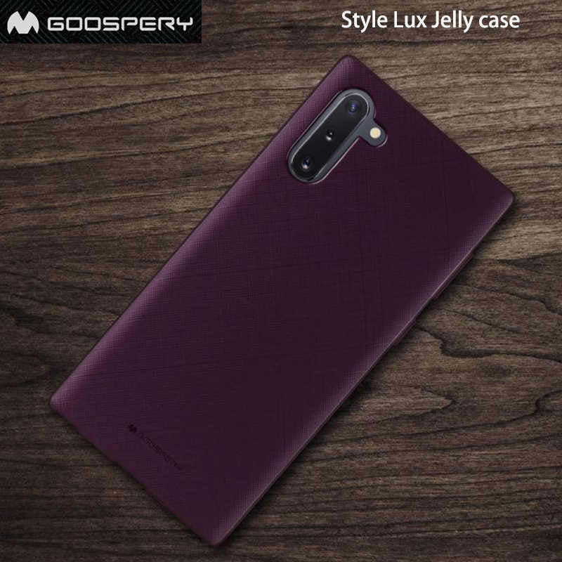 Original Mercury Goospery Style Lux Jelly Case for Samsung Note 10
