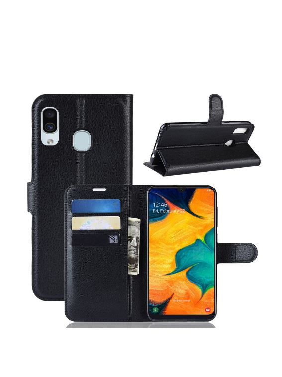 BLACKTECH Black Wallet Case for iPhone 12 Mini