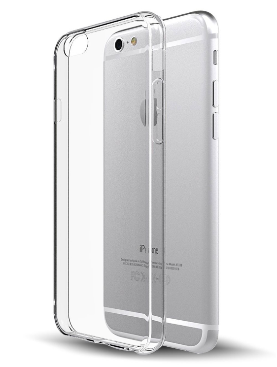 Soft Silicone Rubber Case - Clear for iPhone 6/6S