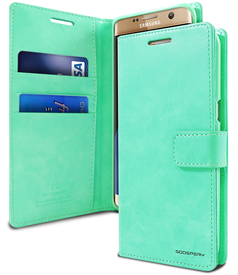 Goospery Mercury Blue Moon Diary for Samsung Galaxy S21 Plus