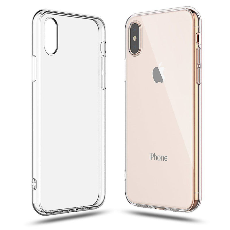 Soft Silicone Rubber Case - Clear for iPhone X/Xs