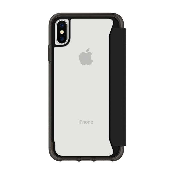Griffin Survivor Clear Wallet for iPhone Xs - Black/Clear