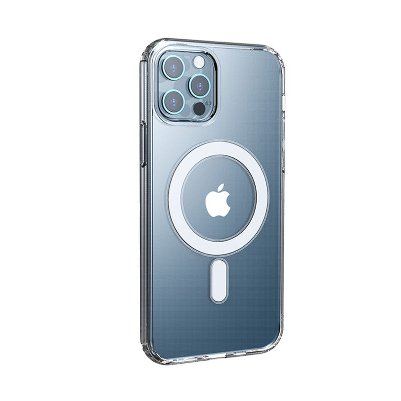 Clear Hybrid Case Cover with Magnetic Ring for iPhone 12 Pro Max