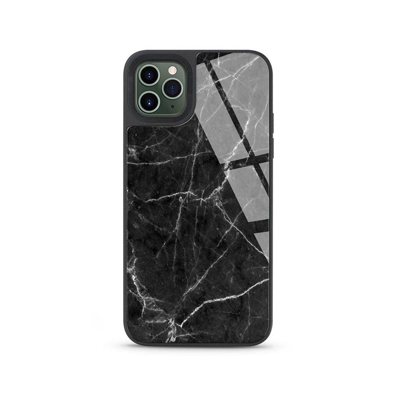Printed Marble Tempered Glass Shockproof Case Cover for iPhone 12 Pro Max