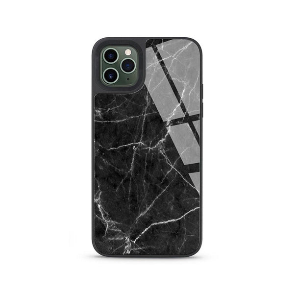Printed Marble Tempered Glass Shockproof Case Cover for iPhone 12 Mini