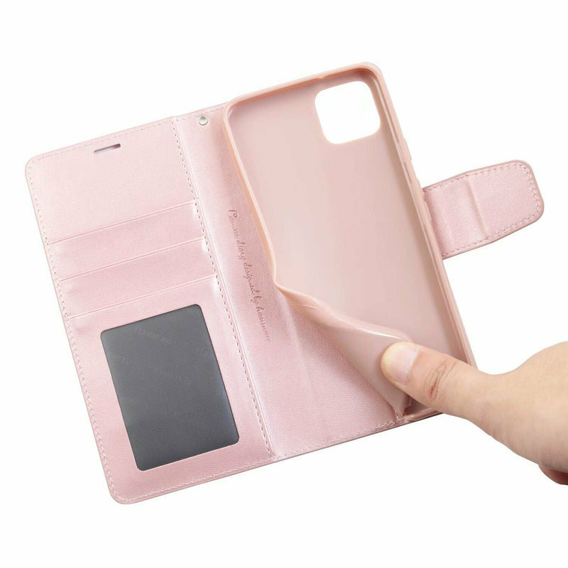 HANMAN Magnetic Wallet Leather Card Flip Case Stand Cover For Google Pixel 4 XL