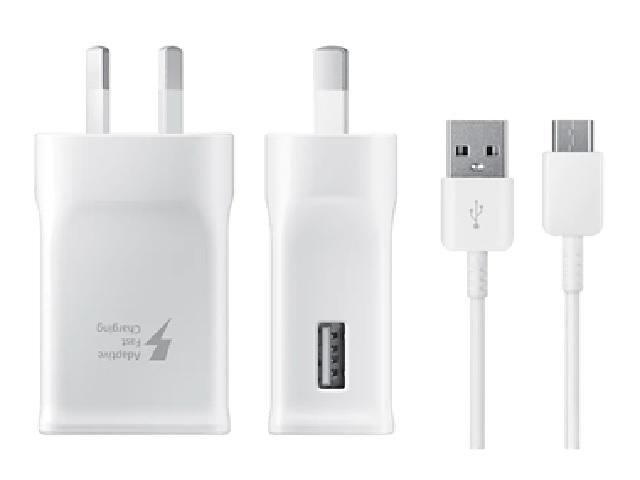 Genuine Samsung Fast Charge AC Charger - USB Type- C - White
