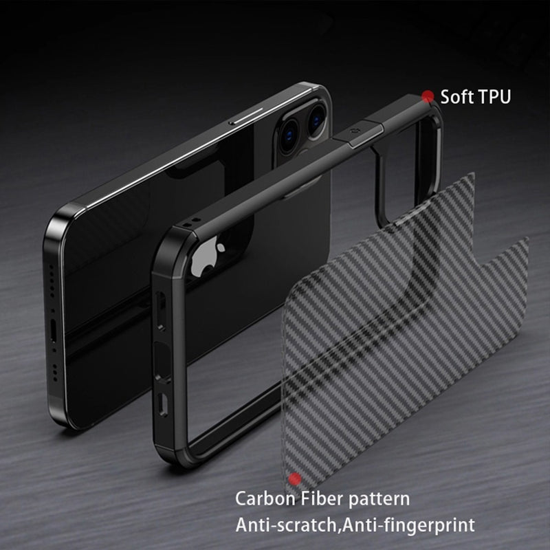 Carbon Fiber Hard Shield Case Cover for iPhone X/XS