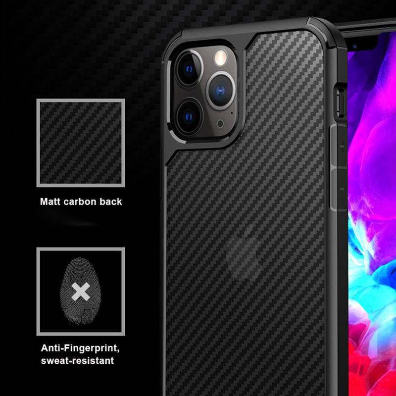 Carbon Fiber Hard Shield Case Cover for iPhone 11 Pro Max