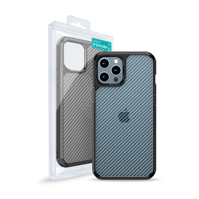 Carbon Fiber Hard Shield Case Cover for iPhone 12 Pro Max