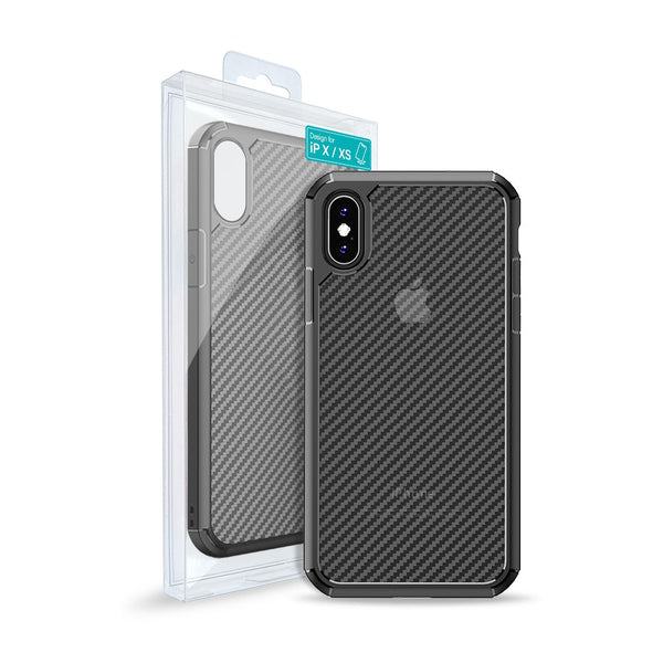 Carbon Fiber Hard Shield Case Cover for iPhone XR