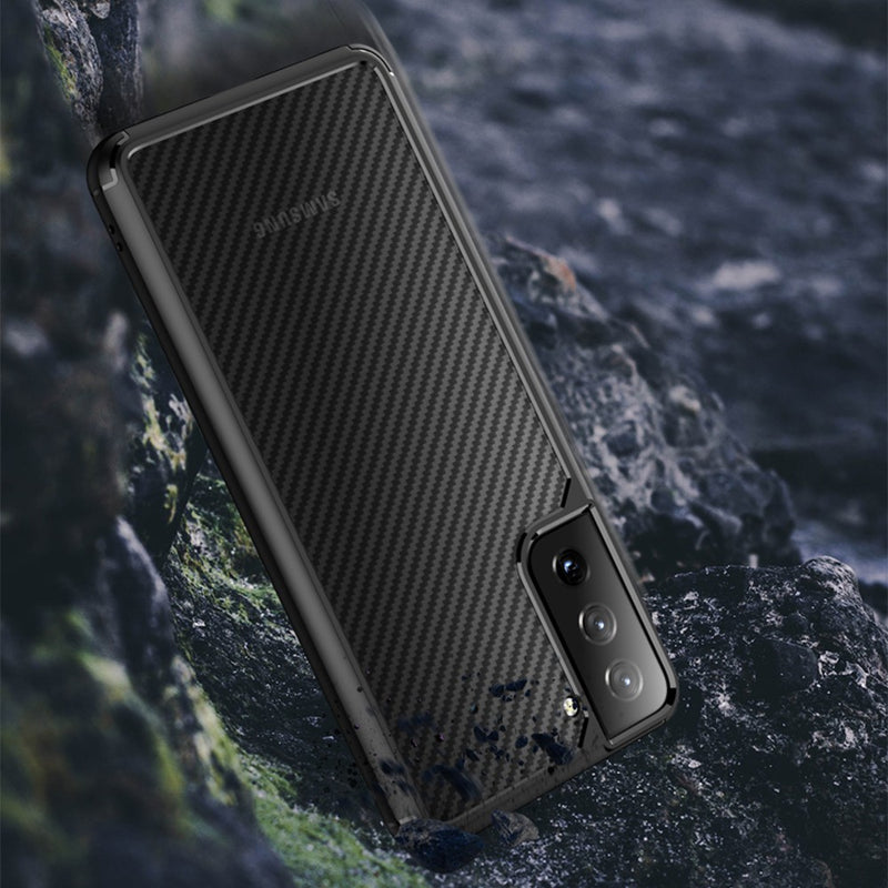 Carbon Fiber Hard Shield Case Cover for Samsung Galaxy S21