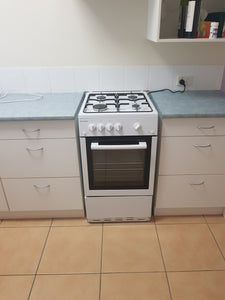 Chef 54cm LPG/NG Gas Freestanding Cooker Supplied and Installed - CFG503WB
