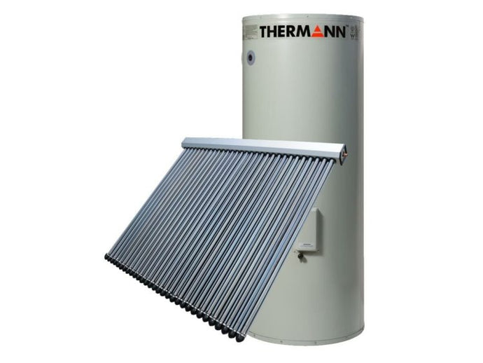 Thermann 250L 22 Evacuated Tube Split System Electric Boost Solar  Supplied & Installed