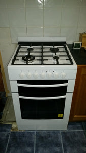 Westinghouse 54cm LPG/NG Gas Freestanding Cooker Supplied and Installed - WLG517WB