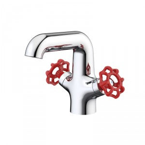 Dorf Industrie Basin Mixer Red