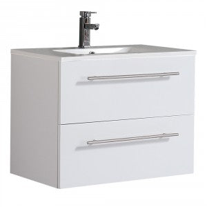 Raymor Brighton 900mm Wall Hung Vanity 2 Drawers White