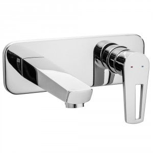 Raymor Lacuna Wall Basin/Bath Mixer Set - 160mm