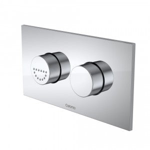 Caroma Invisi Series II® Care Dual Flush Plate and Raised Buttons - Chrome