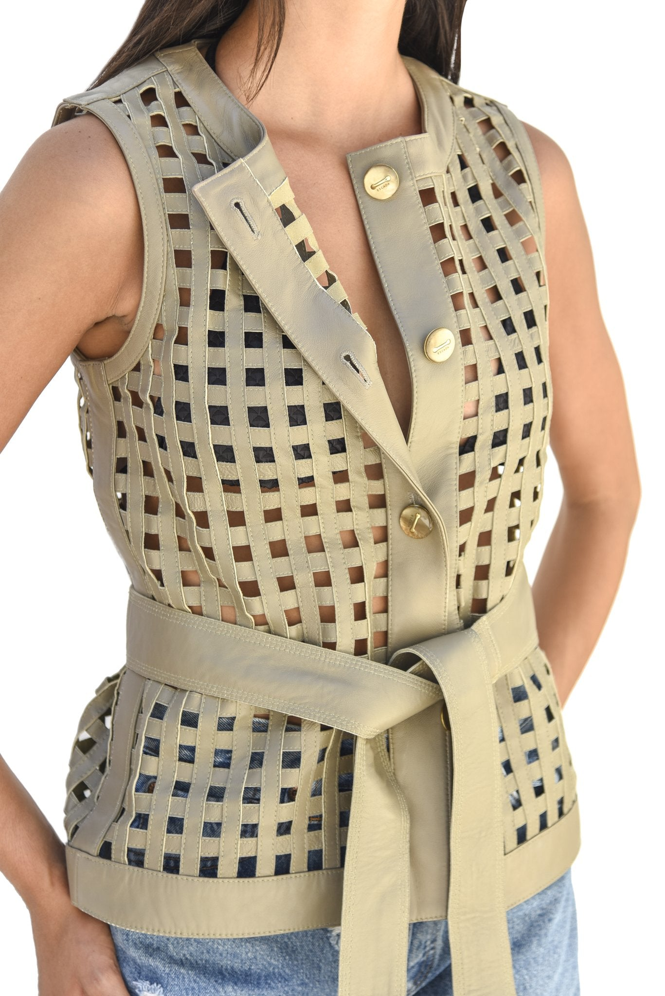 Escada Cut Out Vest