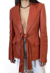 Yves Saint Laurent Tie Blazer