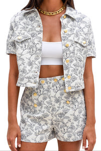 Moschino Short and Jacket Set