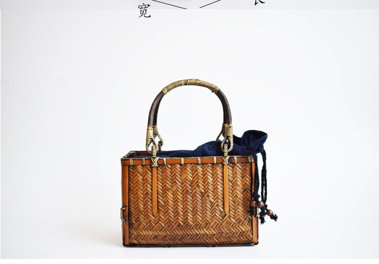 Handcrafted Bamboo Woven Bag