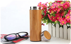 Stainless Steel Bamboo Thermos