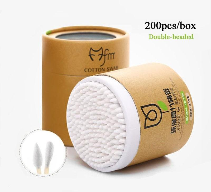 200pcs/Box Bamboo Cotton Swabs