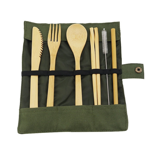 Japanese Bamboo Cutlery Set
