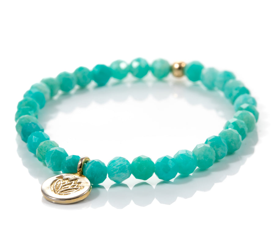Green Amazonite Lotus Bracelet
