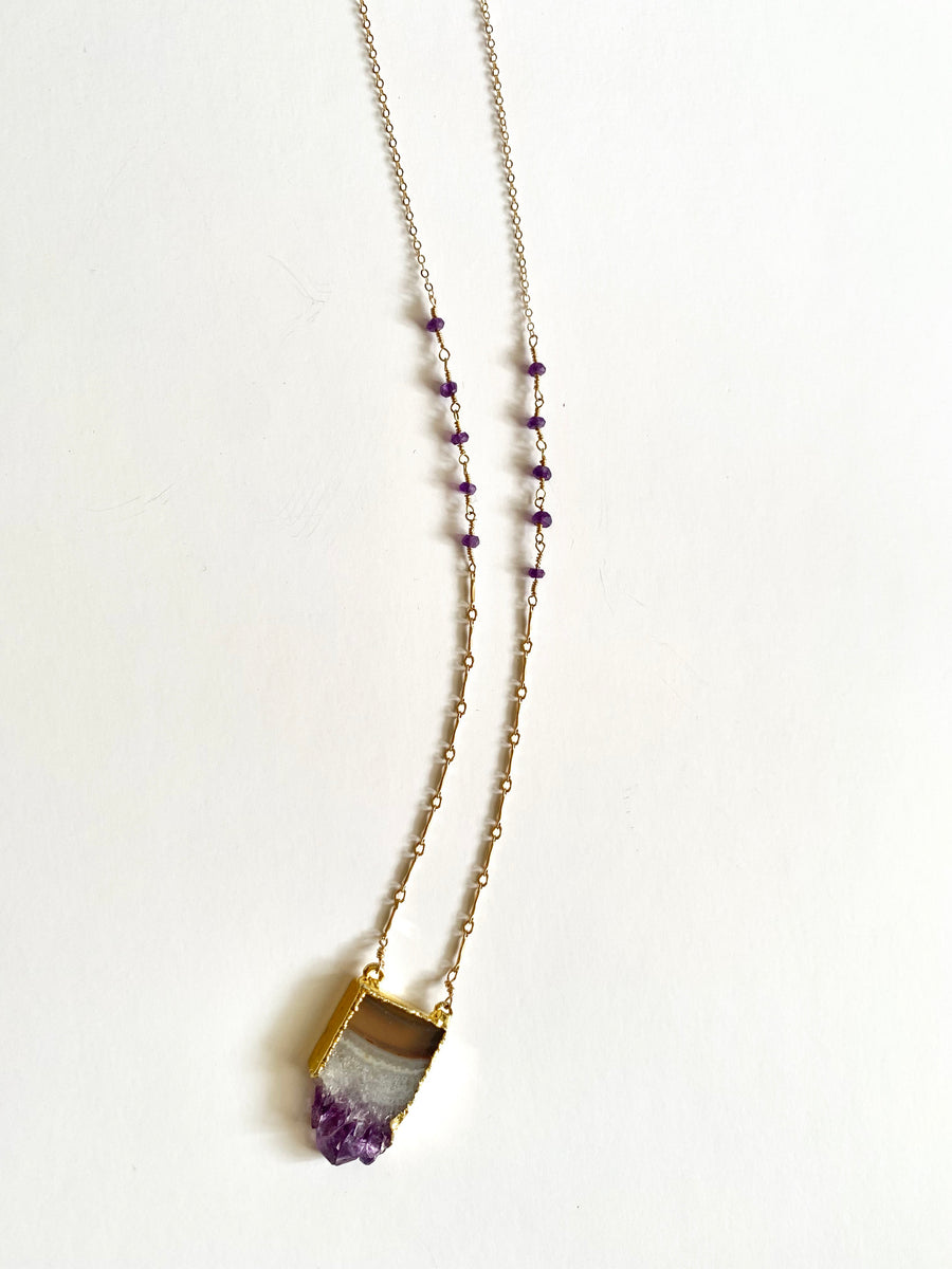 Amethyst Groove Necklace