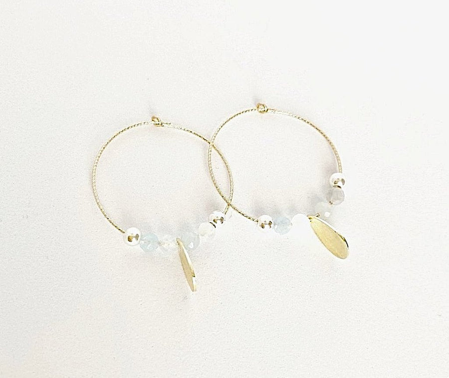Boho Beach Babe Hoop Earrings