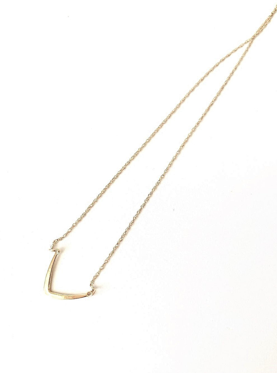 Smooth Angles Gold Necklace