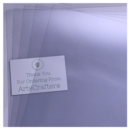 PVC Clear A4 Sheets - 5 Sheets