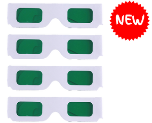 Coloured Overlay Glasses - Green Pack of 4