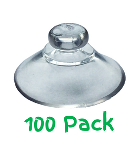 Pack of 100 - 20mm Round Button Suction Cups