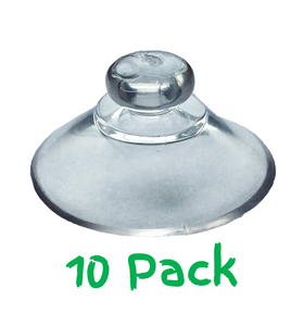 Pack of 10 - 20mm Round Button Suction Cups