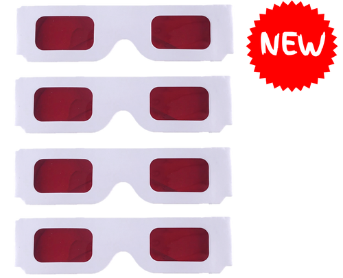 Coloured Overlay Glasses - Red Pack of 4