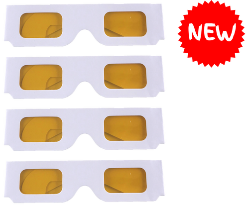 Coloured Overlay Glasses - Yellow Pack of 4