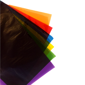 Pack of 48 Sheets - A5 Coloured Cellophane