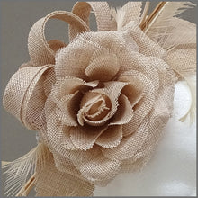 Load image into Gallery viewer, Nude/Blush Pink Flower Fascinator for Special Occasion