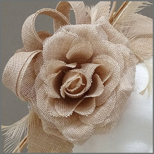 Nude/Blush Pink Flower Fascinator for Special Occasion
