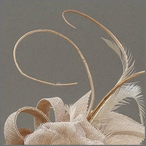 Nude/Blush Pink Flower Fascinator for Ladies Day
