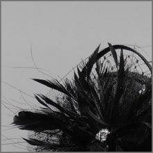 Load image into Gallery viewer, Black Funeral Mini Disc Flower Fascinator