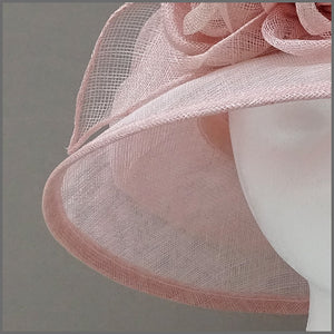 Blush Pink Ladies Sinamay Wedding Hat with Roses