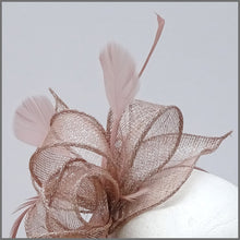 Load image into Gallery viewer, Blush Pink & Silver Special Occasion Feather Headpiece