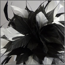 Load image into Gallery viewer, Classic Black & White Disc Fascinator Headband